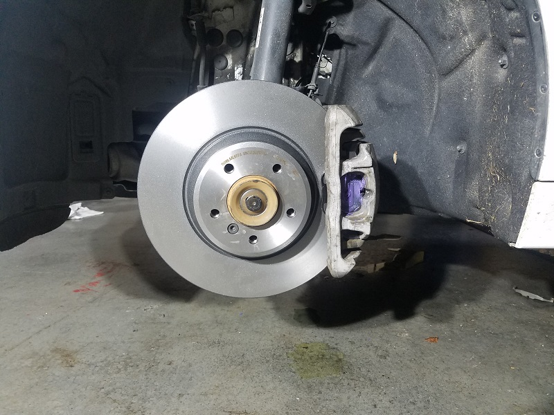 328d converted to 335d brakes - installed